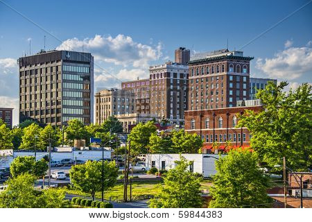 Greenville, South Carolina, USA downtown buildings.