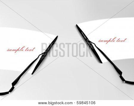 vector windscreen wiper illustration