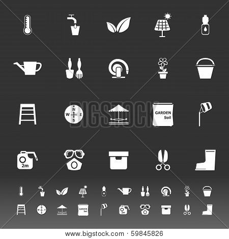 Home Garden Icons On Gray Background