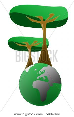 Green World Illustration
