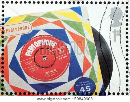 Beatles Vinyl Stamp