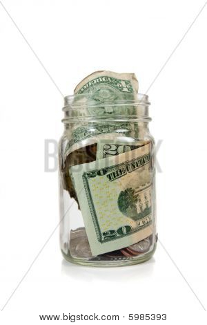 Money In Glass Jar