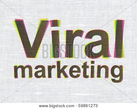 Marketing concept: Viral Marketing on fabric texture background