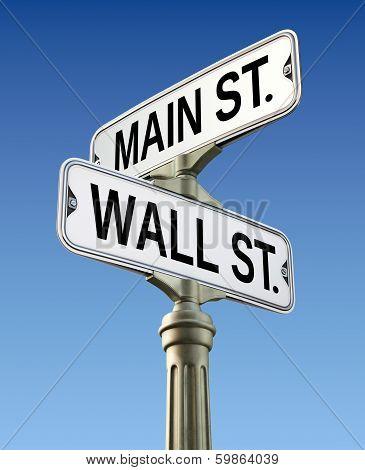 Retro street sign