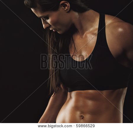 Fitness Woman With Perfect Muscular Body