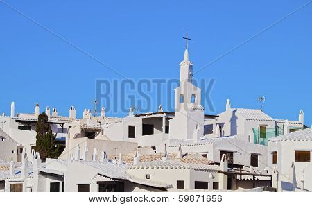 Church In Binibeca Vell On Minorca