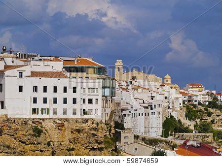 Cityscape Of Mahon On Minorca