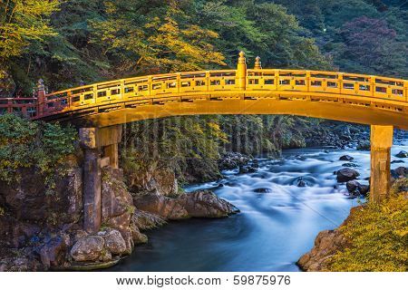 Nikko, Japan at Shinkyo Bridge.