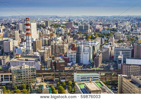 Sendai, Japan cityscape in the Central Ward.