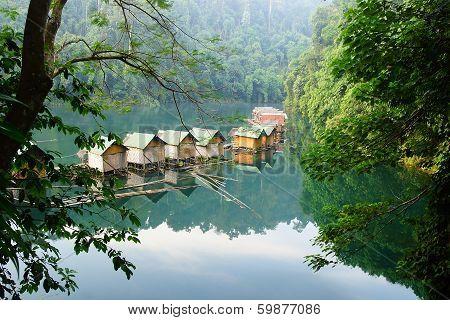 Floating village on Cheow Lan Lake.