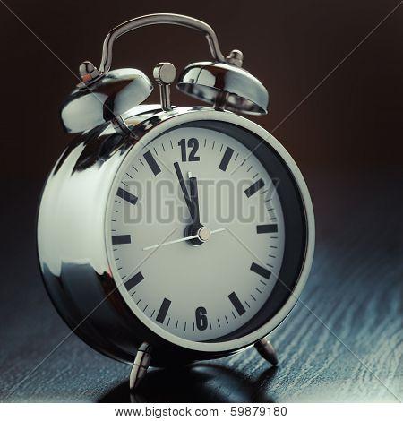 Metallic Alarm Clock