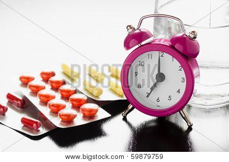 Alarm Clock And Medical Pills