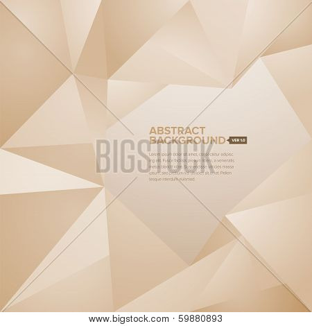 Polygonal Background Brown