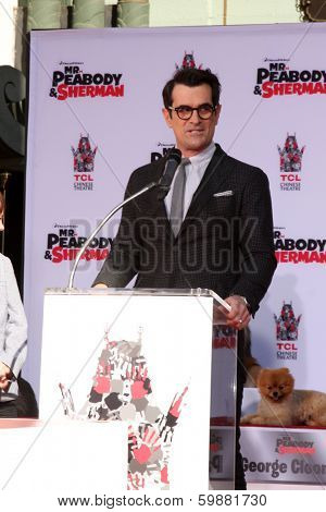LOS ANGELES - FEB 14:  Ty Burrell at the Mr. Peabody honored with Pawprints in Cement at TCL Chinese Theater on February 14, 2014 in Los Angeles, CA