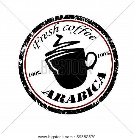Grunge Stamp Fresh Coffee