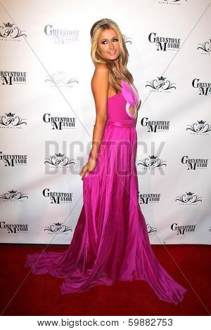 LOS ANGELES - FEB 15:  Paris Hilton at the Paris Hilton Birthday Party, at Greystone Manor on February 15, 2014 in Los Angeles, CA