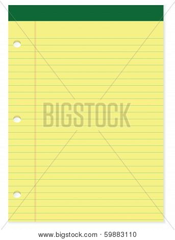Yellow And Green Notepad