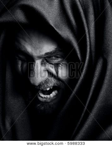 Rage Of Angry Evil Spooky Malefic Man