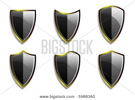 Set of Vector Armor Shields