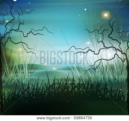 vector landscape, marsh