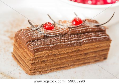 Honey cake with cranberry