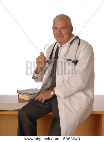 Doctor On White Vertical