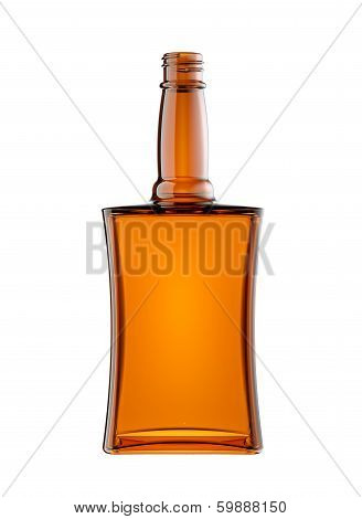 Empty Bottle For Scotch Or Brandy Isolated