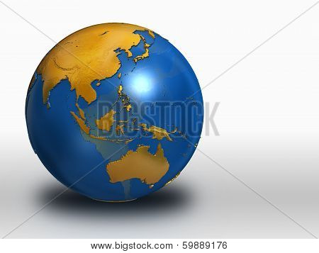 Blue And Gold Earth - Asia