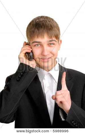 teenager with phone