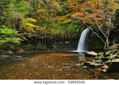 Waterfall in Brecon Becons Wales