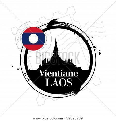 stamp Vientiane, capital of Laos