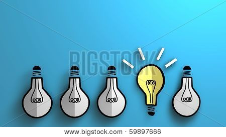 Concept Of Emerging Idea For Business Background