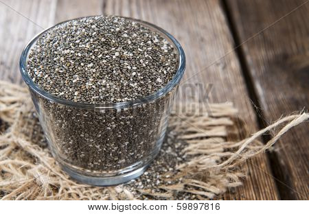Chia Seeds In A Small Bowl