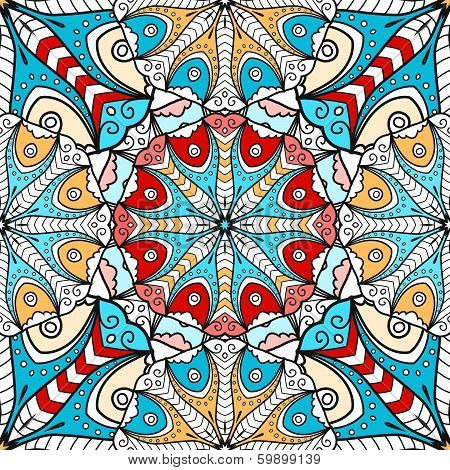 Bright mandala seamless pattern