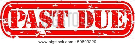 Grunge past due rubber stamp, vector illustration