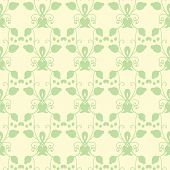 Neutral Floral Ornament. Cool Green