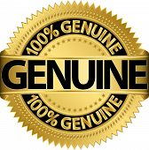 picture of 100 percent  - Genuine 100 percent gold label - JPG