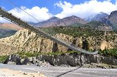 Suspensed Bridge, himalayas Nepal