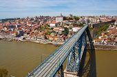View Of Porto And Dom Luis Bridge