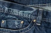 stock photo of denim jeans  - Denim Pocket Closeup  - JPG