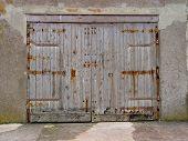 Weathered Wooden Doors poster