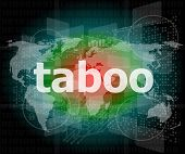 picture of taboo  - security concept - JPG