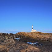 Lighthouse On Fevartix Cape On Minorca