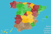 foto of valencia-orange  - A large map of Spain with many details - JPG