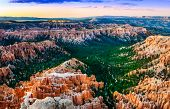 Beautiful Colorful Sunset At Bryce Canyon, Usa