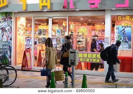 Tokyo, Japan - November 23, 2013: Street Life In Shinjuku