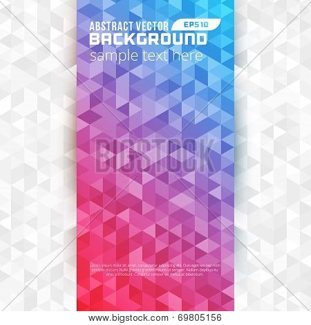 Abstract Geometric Triangles Vector Background