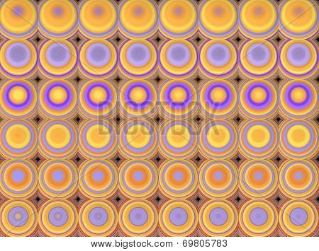 Abstract Tiled Mosaic Background In Orange Yellow Purple