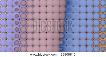 3D Abstract Tiled Mosaic Background In Blue Orange Lavender