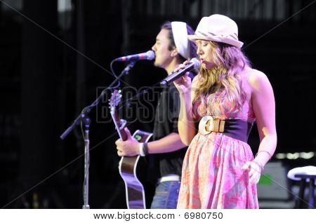 Colbie Caillat performing live.